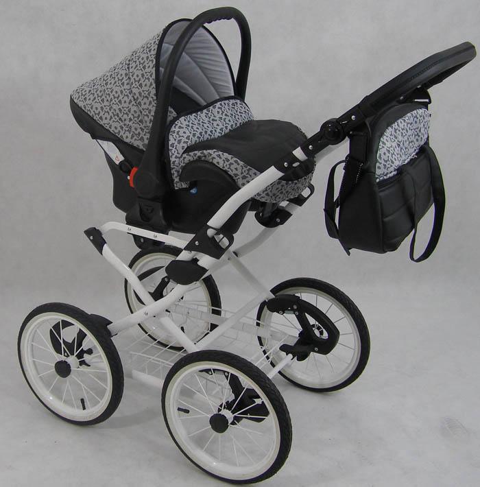 kombi kinderwagen retro 3in1 babyschale autositz babywanne. Black Bedroom Furniture Sets. Home Design Ideas
